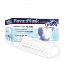 35e42fb37 Máscara Cirúrgica Branca c  Elástico - Fava