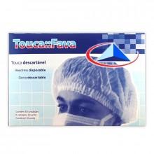 54057dd25 Touca Cirúrgica Descartável Não Estéril com Elástico Branca - Fava